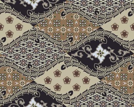 javanese: Javanese Batik Seamless Pattern