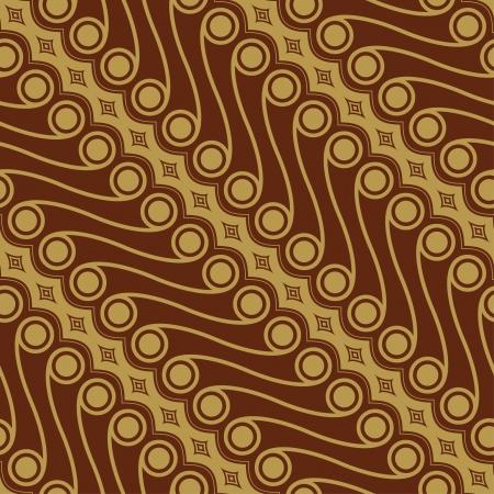 Javanese Batik Seamless Pattern