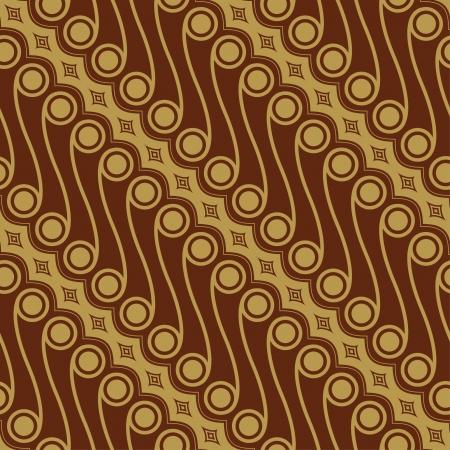 indonesia culture: Javanese Batik Seamless Pattern