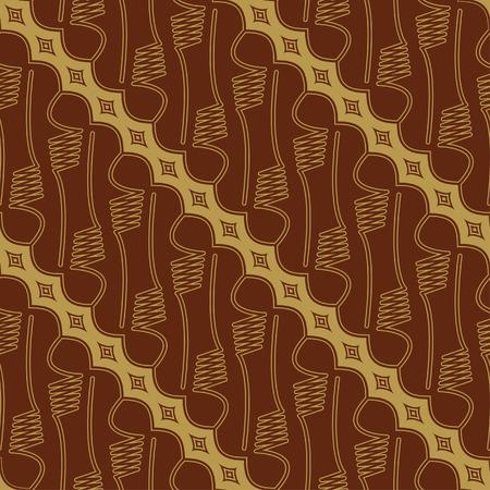 Javanese Batik Seamless Pattern - Set E1 Parang Vector