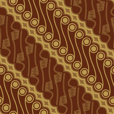Javanese Batik Seamless Pattern - Set E2 Parang Vector