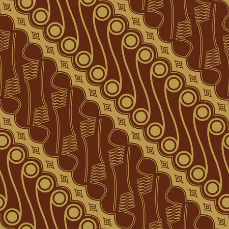 batik: Motif javanais Batik pattern - Set E2 Parang Illustration