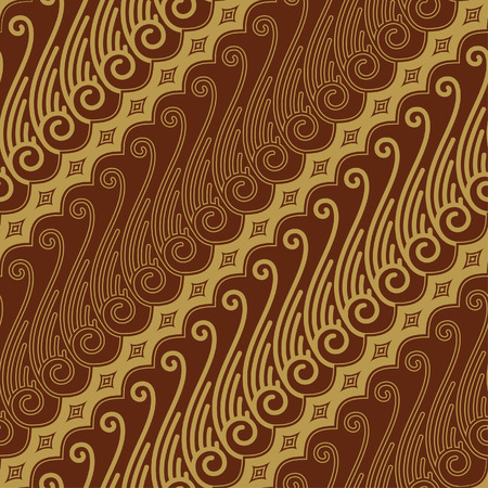 Javanese Batik Seamless Pattern - Set F Lereng Mixed Vector