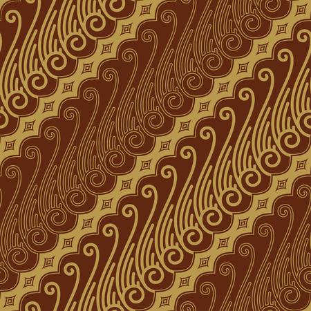 batik pattern: Javanese Batik Seamless Pattern - Set F Lereng Mixed