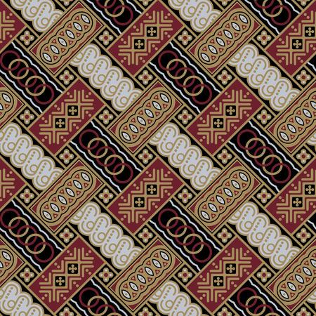 Javanese Batik Seamless Pattern - Set A1 Diagonal Vector