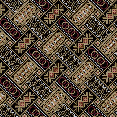 Javanese Batik Seamless Pattern - Set A2 Diagonal