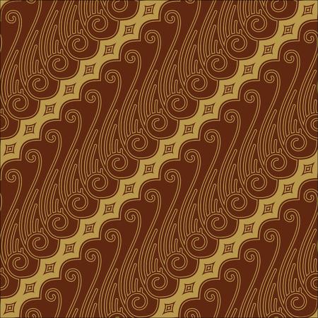 Javanese Batik Seamless Pattern - Set F Lereng Red Vector