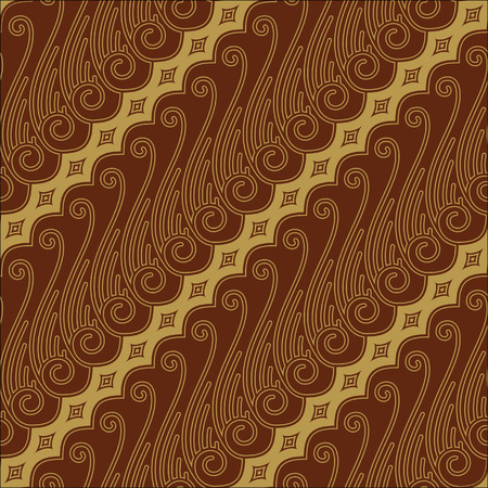 sarong: Javanese Batik Seamless Pattern - Set F Lereng Red
