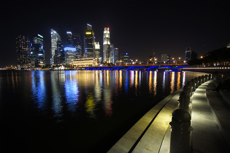 water scape: Cityscape Marina Bay Singapore