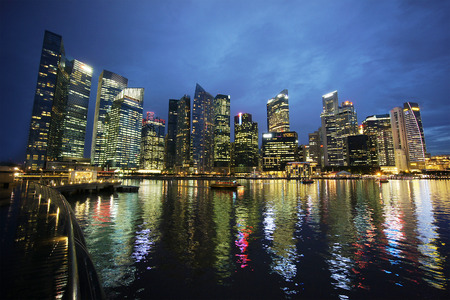 city scape: Cityscape Marina Bay Singapore