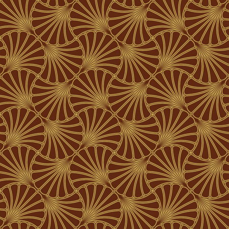 Batik Seamless Pattern - Fan - Red Vector