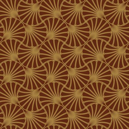 sarong: Batik Seamless Pattern - Fan - Red Illustration