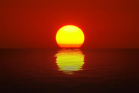 Eigelb Sonnenuntergang