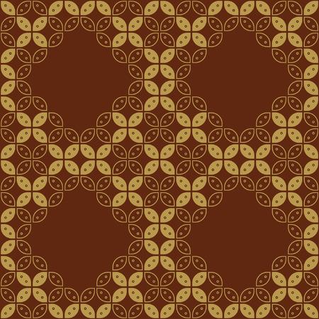 Javanese Batik Seamless Pattern - Set G3 Kawung Marquise Diamond Chain