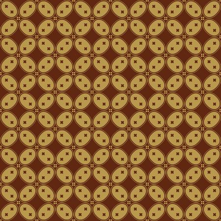 java: Javanese Batik Seamless Pattern - Set H Kawung Simplified Oval Chain
