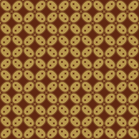 Javanese Batik Seamless Pattern - Set H Kawung Simplified Oval Chain