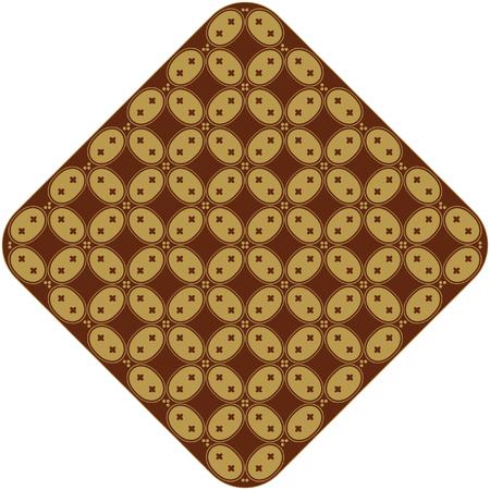 batik motif: Javanese Batik Kawung Oval Diamond Chain Illustration