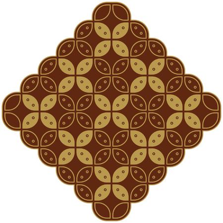 batik motif: Javanese Batik Kawung Marquise Diamond Chain