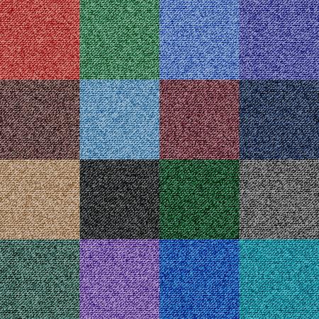 Denimtextuur Seamless Vector met 16 Kleuropties