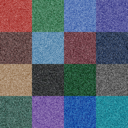 Denim Texture Seamless Vector with 16 Color Options