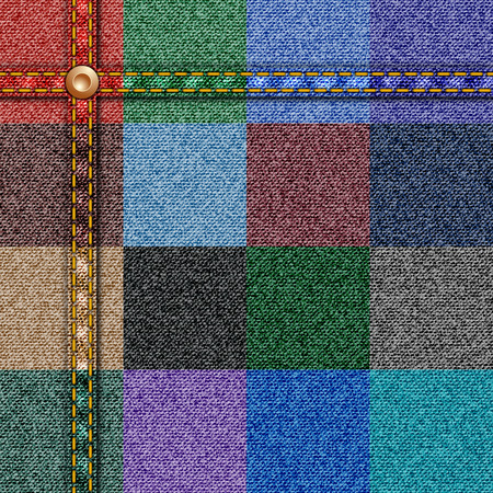 seam: Denim Texture Seamless Vector with Seam in 16 Color Options