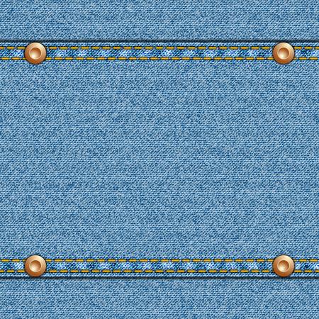 in jeans: Textura de mezclilla inconsútil del vector con el espacio del centro de texto