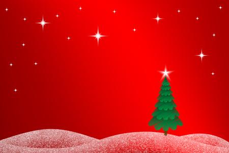 Weihnachtslandschaft Hintergrund Standard-Bild - 48147867