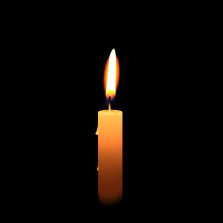Candlelight isolated on black background