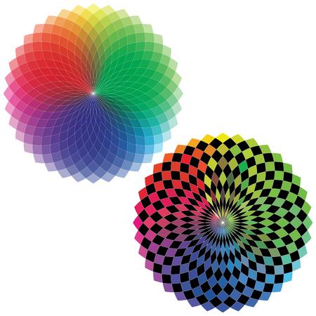 color spectrum: Spirograph - Color Spectrum Set A Illustration