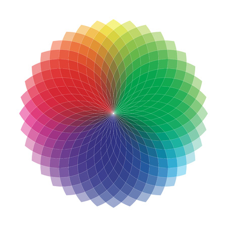 color spectrum: Spirograph - Color Spectrum Set A Illustration