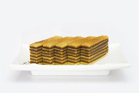 Multi-layered cake called