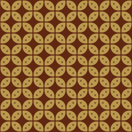 Javanese Batik Seamless Pattern - Set G4 Kawung Simplified Marquise Chain