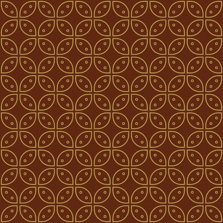 Javanese Batik Seamless Pattern - Set G5 Kawung Simplified Marquise Chain