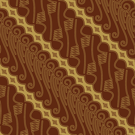 Javanese Batik Seamless Pattern Vector - Set FE Vecteurs