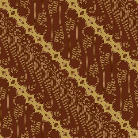 Javanese Batik Seamless Pattern Vector - Set FE