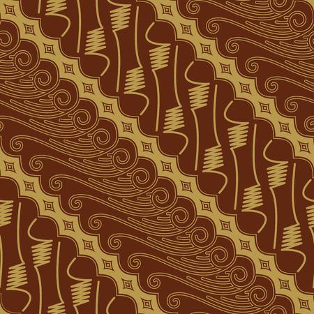 Javanese Batik Seamless Pattern Vector - Set FJ Illustration