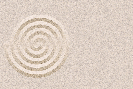 Japan Zen Garden design layout background vector with copy space. Geometric ripples and sand texture.