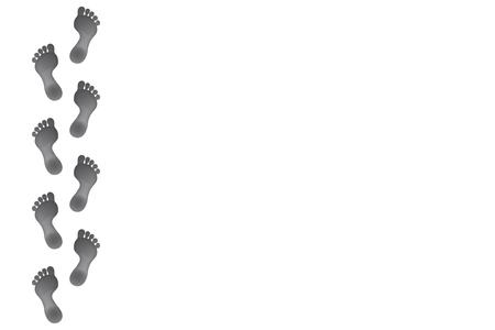 足跡デザイン コピー スペースとレイアウト背景ベクトルです。  イラスト・ベクター素材