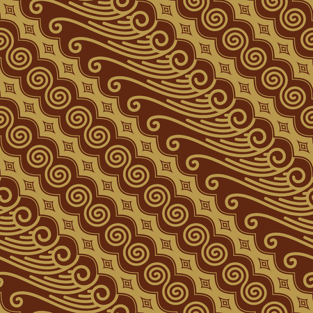 Javanese Batik Seamless Pattern Vector - Set K7