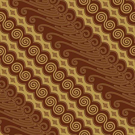 Javanese Batik Seamless Pattern Vector - Set K9 Illustration