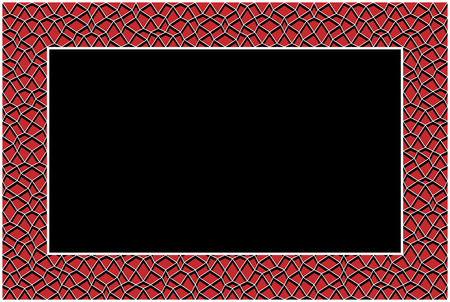 Frame rectangle with geometric irregular texture vector.  イラスト・ベクター素材
