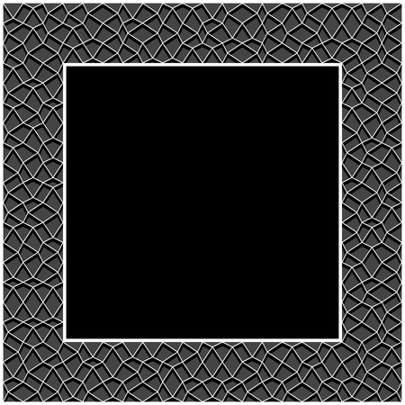 Frame square with geometric irregular texture vector, for design layout background.