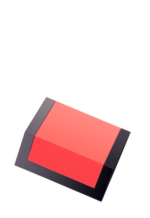 red box for a gift is isolated on a white background Stock Photo - 11403980