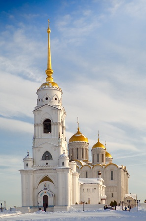 Orthodox church against the blue sky background Stock Photo