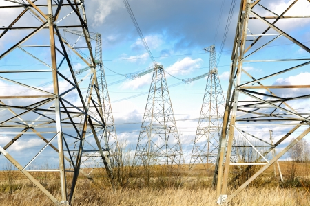 isolator insulator: high-voltage line in the sky