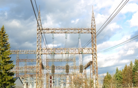 high-voltage line in the sky