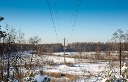 High voltage power lines Stock Photo - 17659011
