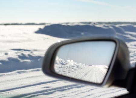 snowy road Stock Photo - 18087667