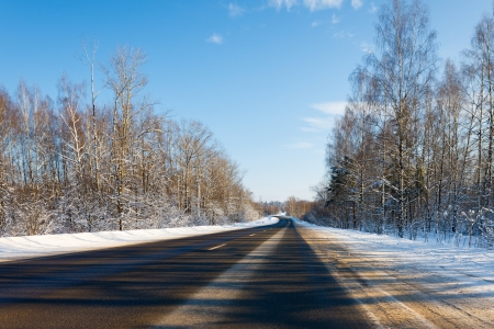 road in winter photo