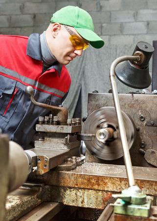 man  turner works for lathe